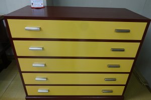 A modern chest of drawers