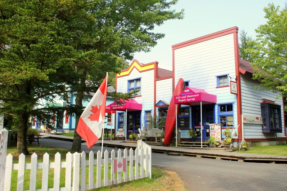The Canadian village is modeled on Nelson City