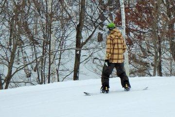 The snowboarders I spoke with said they love Minakami's high quality fresh powder snow.