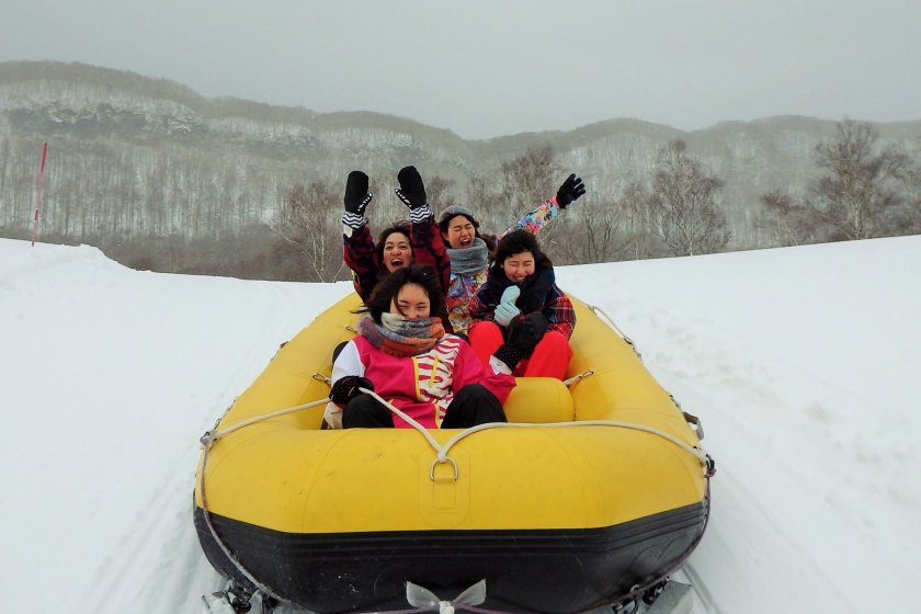 Snow rafting is one of the most popular winter activities at the resort.