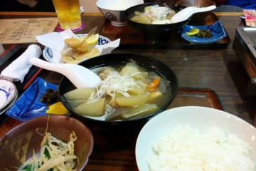Smaller personal size nabe dish set meals can be purchased at a reasonable price