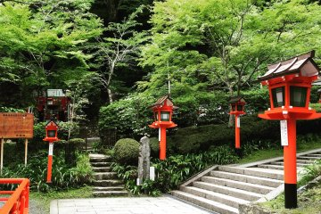 Kurama Temple was founded in the 8th century by a Chinese priest and until 1949 the temple was connected to Tendai Buddhism, one of the schools of esoteric Buddhism in Japan.