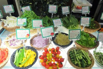 Fresh local vegetables are a main feature of the resort's restaurants