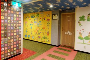 The colorful kids' floor of the hotel's Annex tower