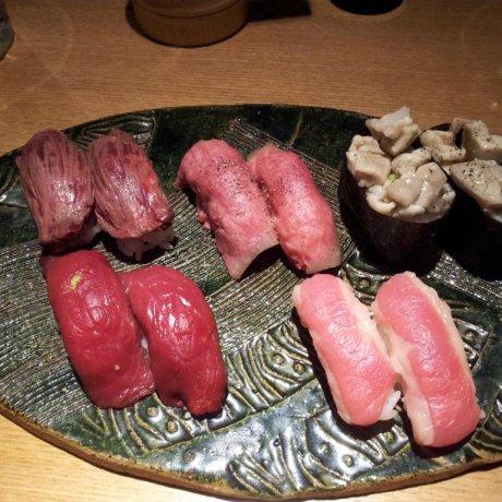三軒茶屋・肉寿司