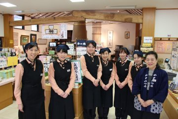 The staff at Kasumi Tsuru brewery will warmly welcome you
