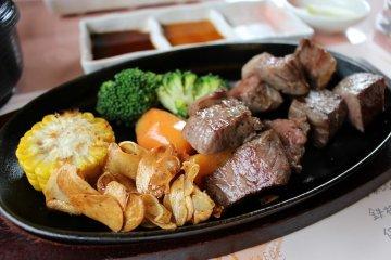Tajima beef at Kaede steakhouse, Yumura