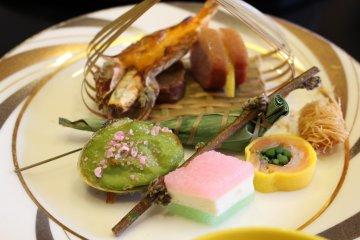 Set lunch at Kaike Tsuruya ryokan