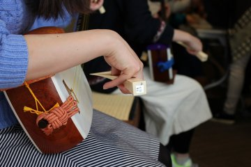 Learning to play the shamisen