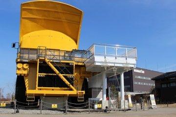 The world's largest dump truck, manufactured by Komatsu