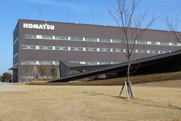 Overlooking Komatsu's headquarters