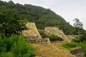 The southernmost turrets of Tottori Castle