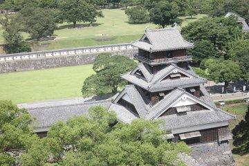 Kumamoto Castle from a Bird's Eye view