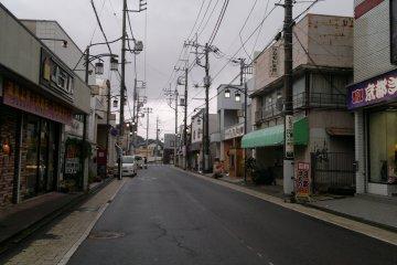 Sawara's modern area, just near the station