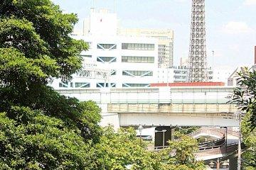 从海边望横滨塔