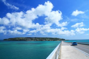 Get a close-up look at Okinawa's blue seas with your rental car