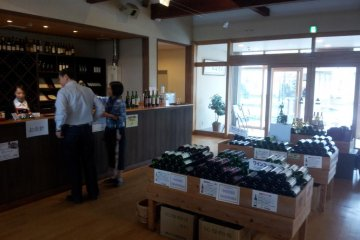 Local produce on sale in the showroom