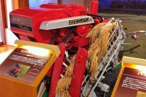 An Iseki combine harvester