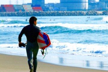 Surfing Near Sendai Port