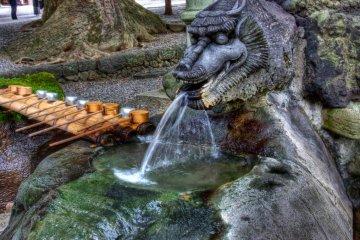 Cleansing fountain at Akimiya