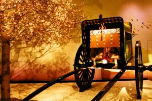 A model of an oxen-drawn cart