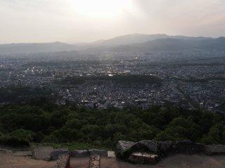 Pôr-do-sol em abril em Daimonji-yama