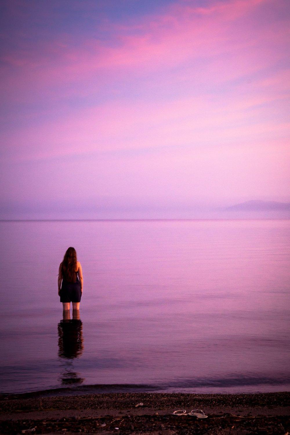 ピンク色に消えていく