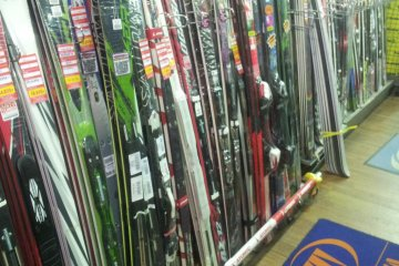 Skis as far as the eye can see