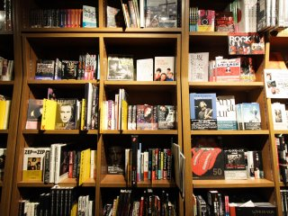 Music section of Tower Books