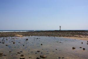 Mer et terre sur l'île