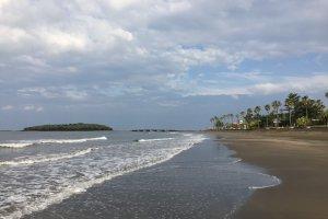La plage et l'île