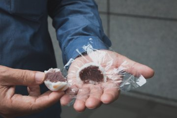 Inside the manju there is anko, which is made from boiled adzuki beans and sugar.