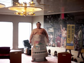 A sumo wrestling promotion on board