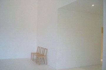 The museum incorporates the color of white inside and out.