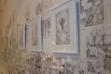 Morioka Shoten showcases pages from a graphic novel