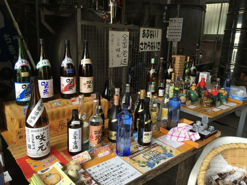 사키모토의 아와모리 작은 테이블로 시음 및 구매하실 수 있다