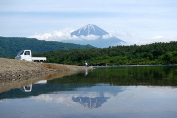 جبل فوجي من بحيرة سايكو
