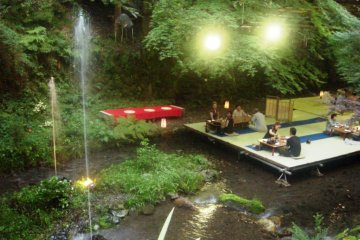 Kibune's Kawadoko, restaurants where in summer you sit on platforms suspended just above the waters of the river