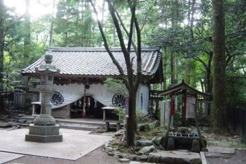 Secluded mountain temple along the Kurama-Kibune hiking trail