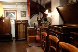 Acoustic gramophones on 2nd floor