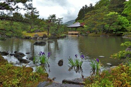 Joraku-en à Fukushima Sous la Pluie