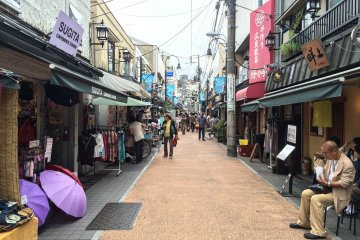 Yanaka Ginza, the shopping street, on a not so busy day