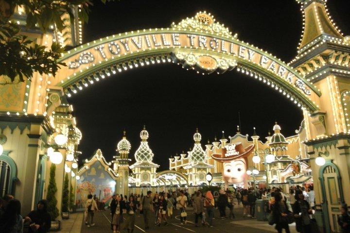 โตเกียว DisneySea ยามค่ำคืน