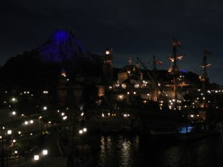 Mount Prometheus from across the harbor