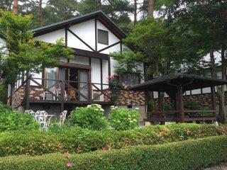 Un cottage et son espace BBQ