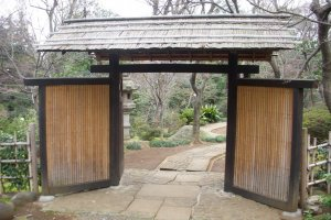 You leave behind Daikanyama's modernity once you enter these gates