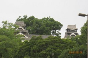 This was my first view of the castle. The main keep is on the right and the Uto Yagura is on the left