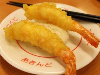 This is one my favorites, shrimp tempura sushi...
