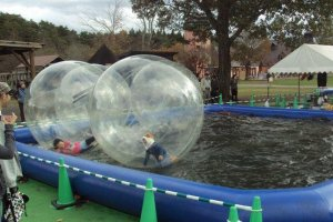 Culture shock: Japanese have fun by locking their children inside giant zorb balls.