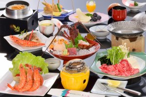 Makanan khas Ise-Shima di Toba View Hotel